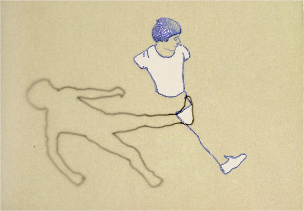tekening van een sportief jongetje
