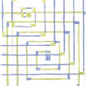 Tekening Kleurpotlood Patroon Vierkantjes Lijnen