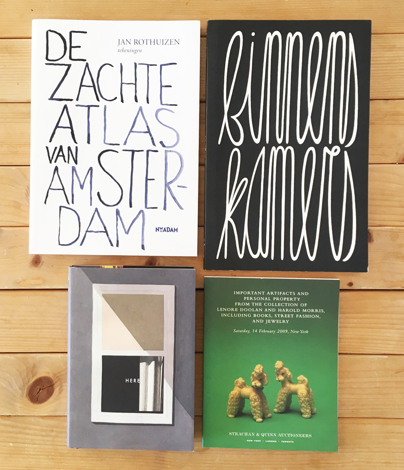 boektitels van graphic novels of beeldverhalen: Rothuizen, Enthoven, McGuire, Shapton
