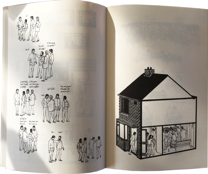 pagina's van de graphic novel of de beeldroman van tim enthoven: binnenskamers