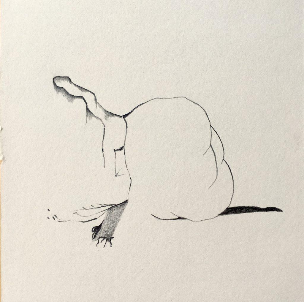 Tekening Potlood Op Papier Wolk Lichaam