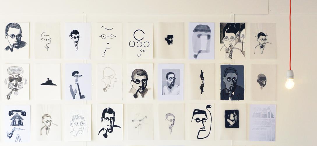 Tekeningen Portretten Raymond Queneau Studio Vander