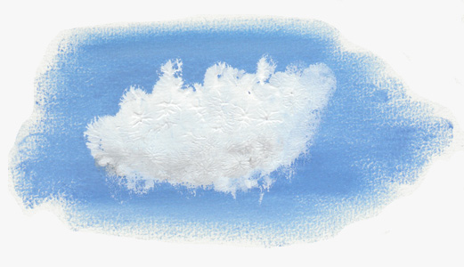 Wolk Painted Cloud Illustratie - Studio Vander